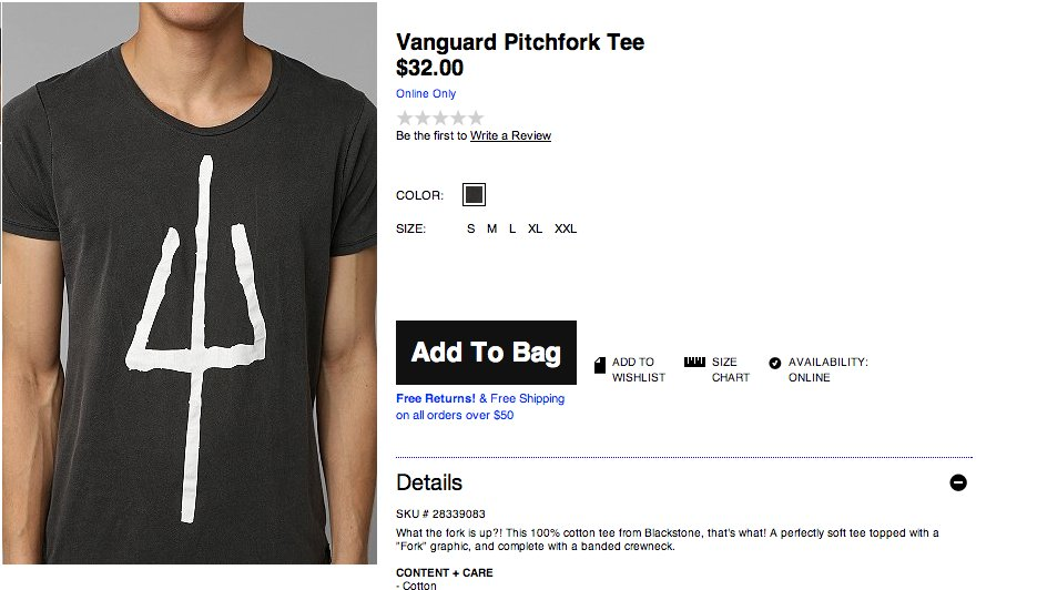 urban outfitters pitchfork tshirt