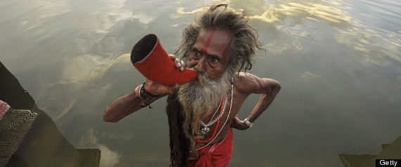 MAN WITH HORN
