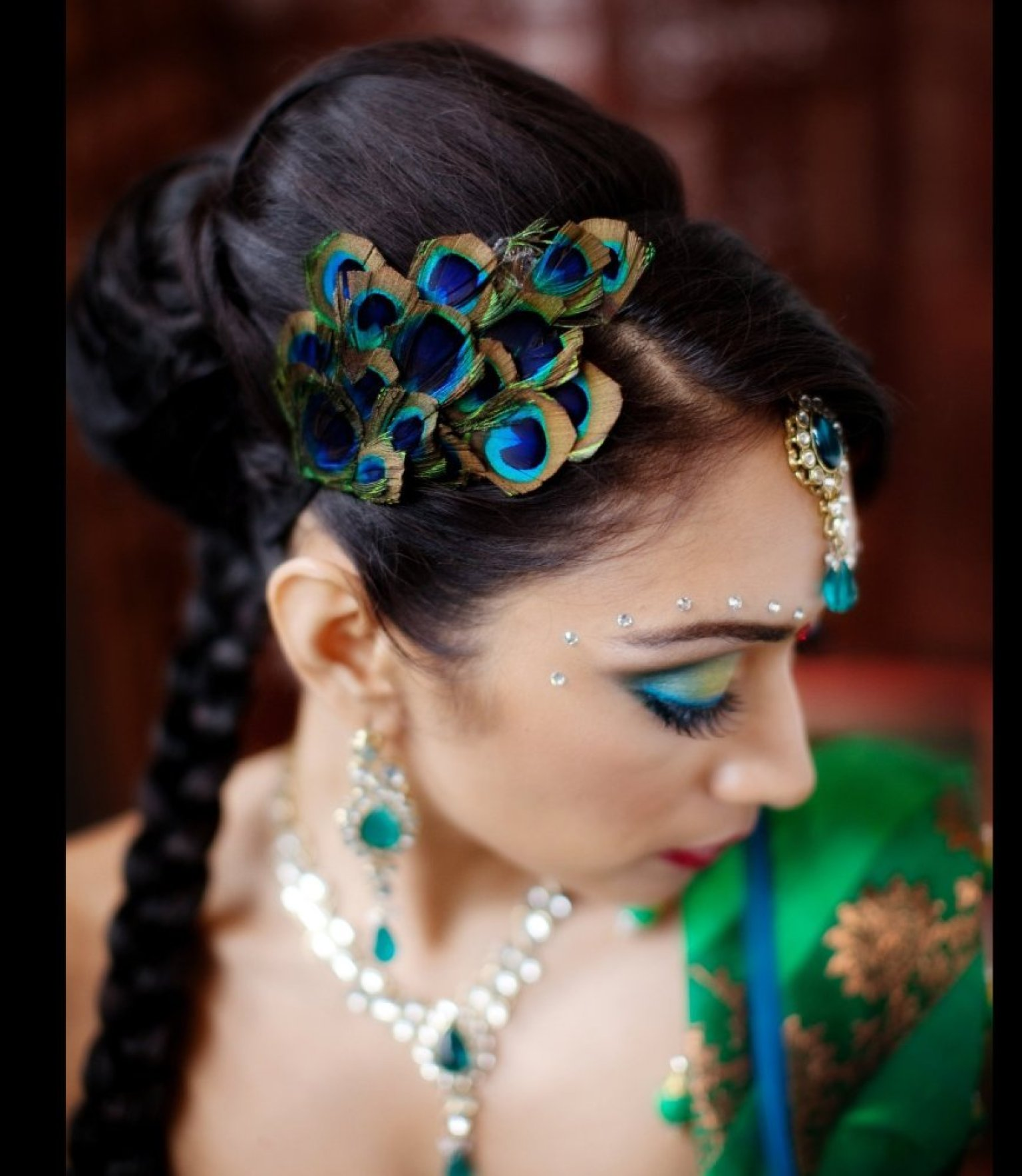 Feathers In Fashion Peacock Wedding Inspiration Jafreen