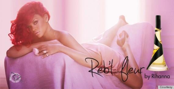 Rihanna nude perfume ad