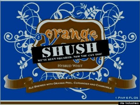 orange sush label