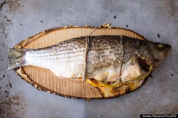cedar plank bass