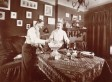 1904 Bachelor Apartment Includes Punch Bowl, Mantel Full Of Boxing Gloves (PHOTO)