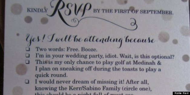 Humor Wedding Invitations: Funny RSVP Card Shows Off Couple's Sense Of Humor (PHOTO