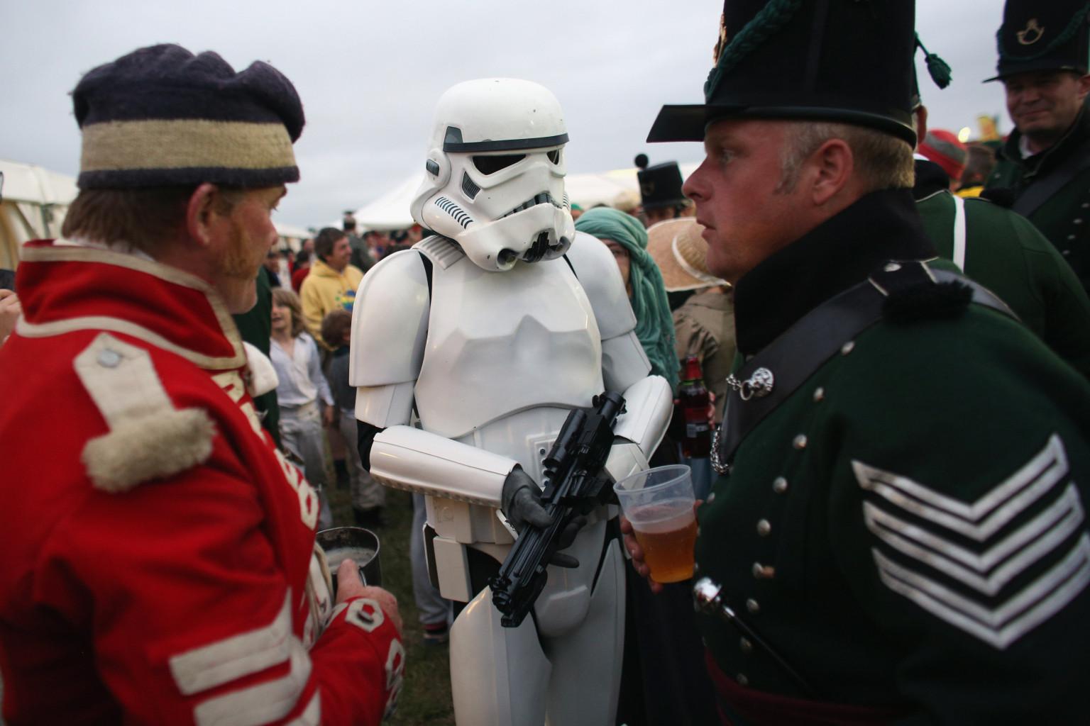 Volkswagen Of America >> 'Star Wars' Stormtrooper Crashes Battle Of Hastings Reenactment