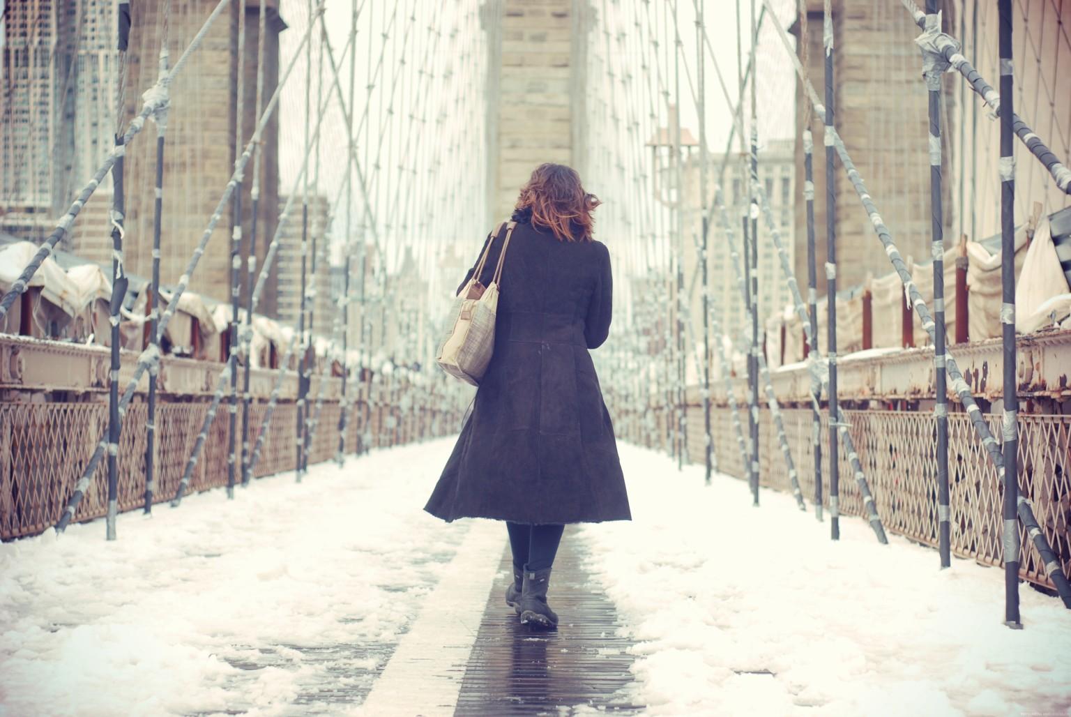 Woman Walking In New York City Facebook