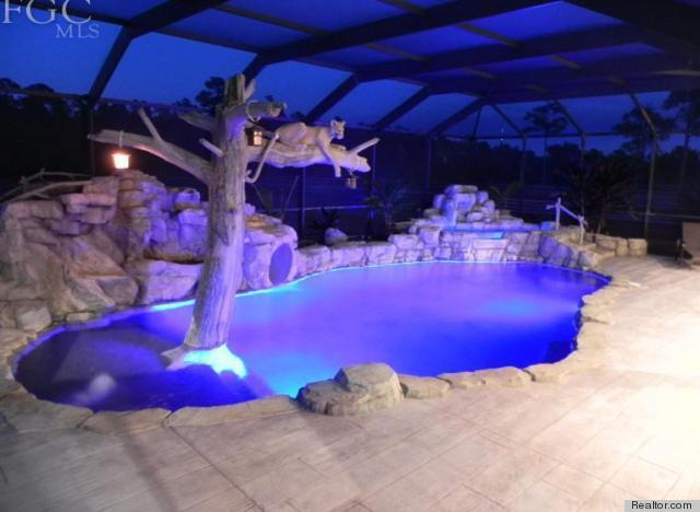 6 epic water slides that make a lavish swimming pool even better photos huffpost How to draw swimming pool water