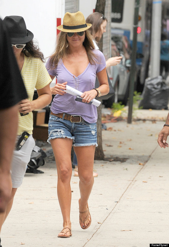 Jennifer Aniston Wears Cutoff Shorts Is The Picture Of
