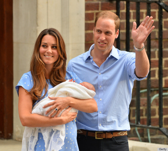 Kate Middleton Leaves Hospital With Royal Baby Amp Prince