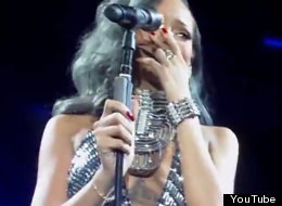 WATCH: Rihanna's Tears During French Gig