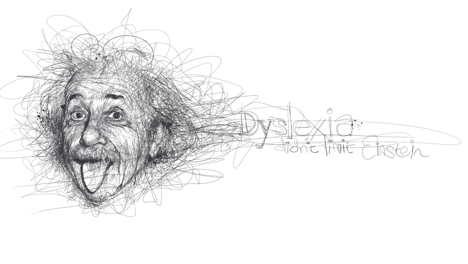 Scribble Drawing Uk : Vince low pays homage to famous dyslexics with realistic