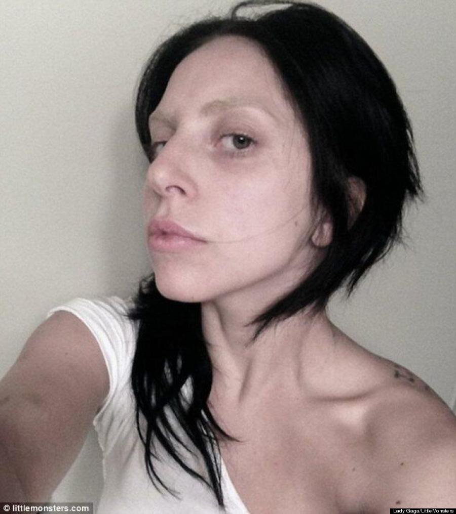 Lady gaga looks unrecognizable in makeup free photo video