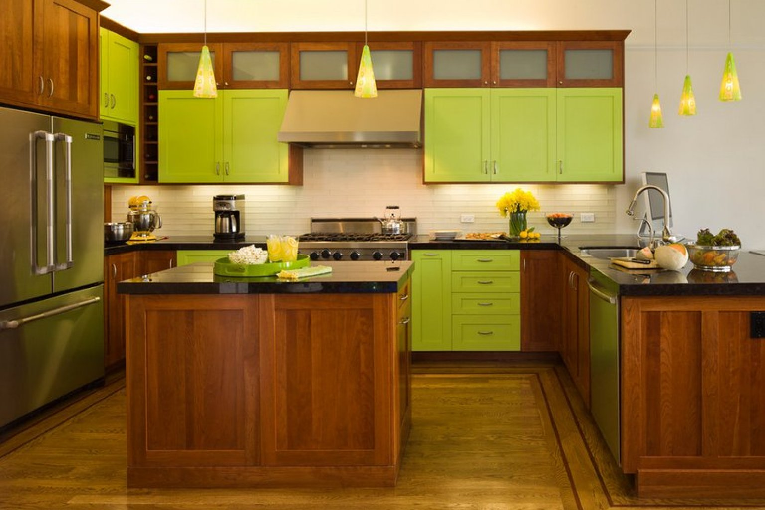 8 good reasons why you should paint everything lime green for Kitchen cabinets green