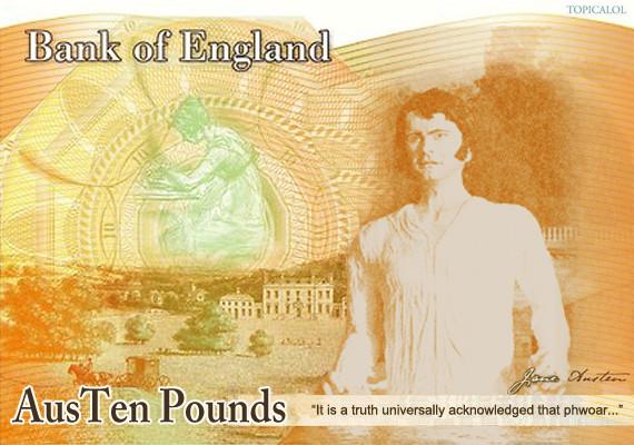 jane austen £10 banknote spoof