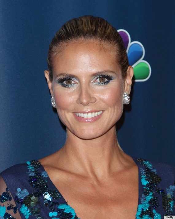 Heidi Klum S Blue Eyeshadow Is Making Us Jealous Photos