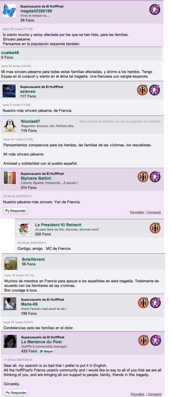 condolencias de francia accidente de santiago