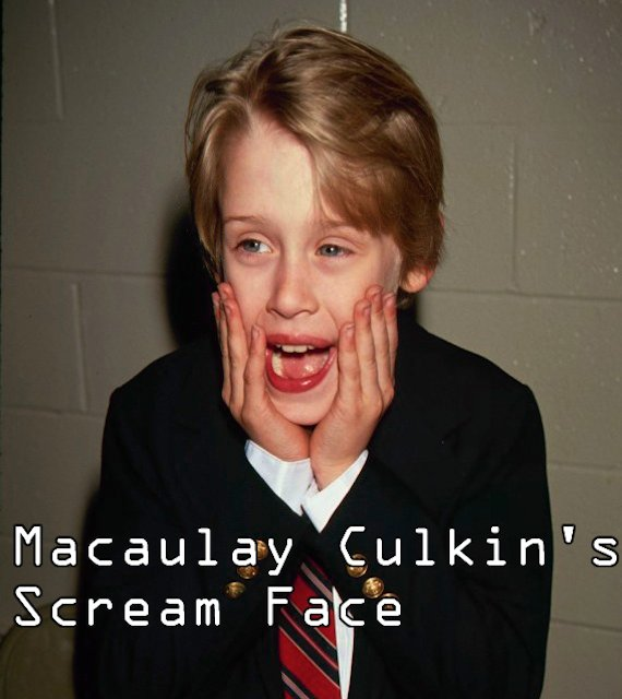 macaulay culkin sream face