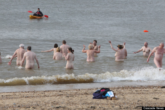 clacton naked swim
