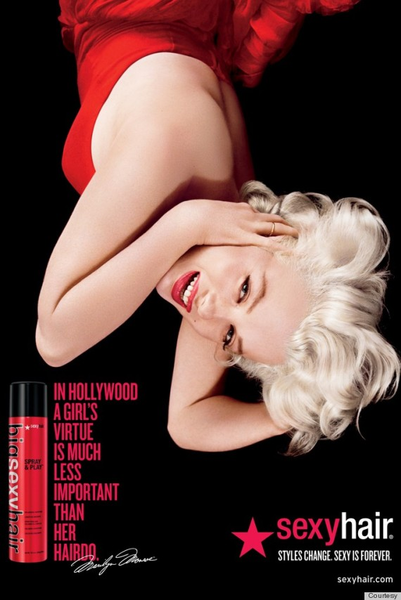 marilyn monroe sexy hair ads
