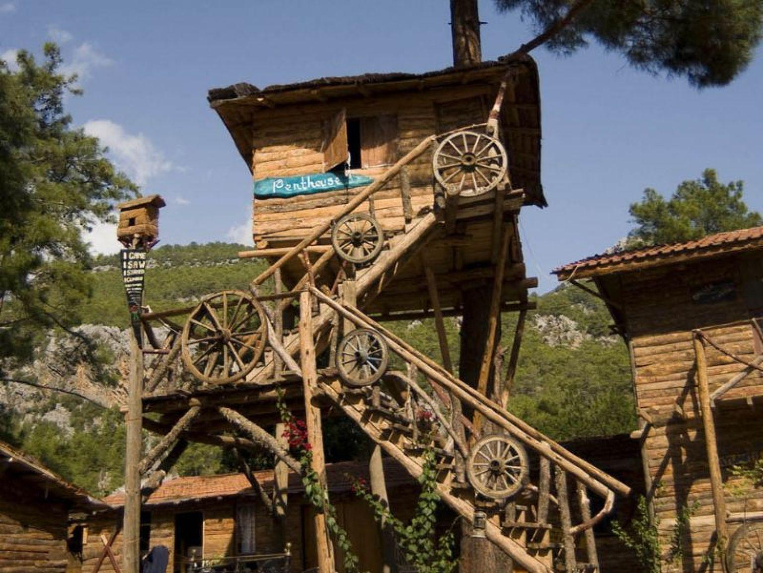 In vacanza su un albero indirizzi con camere vista cielo for Case in legno sugli alberi
