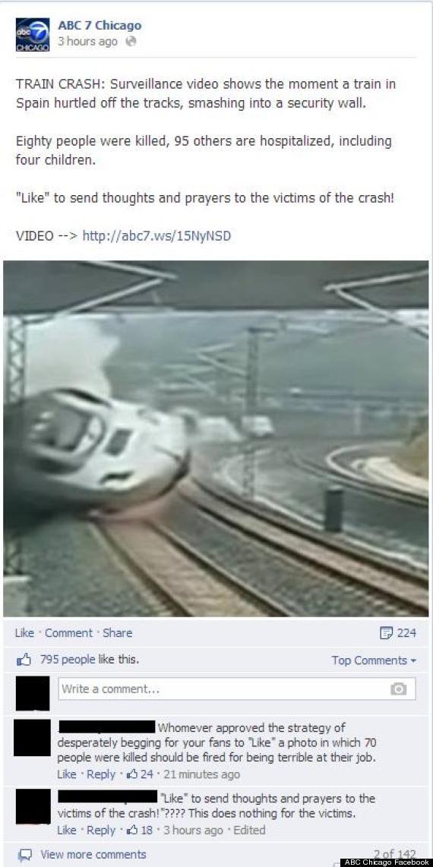 abc chicago facebook post spain train crash