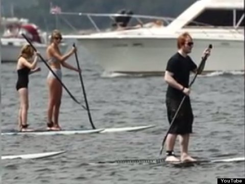 taylor swift paddleboarding