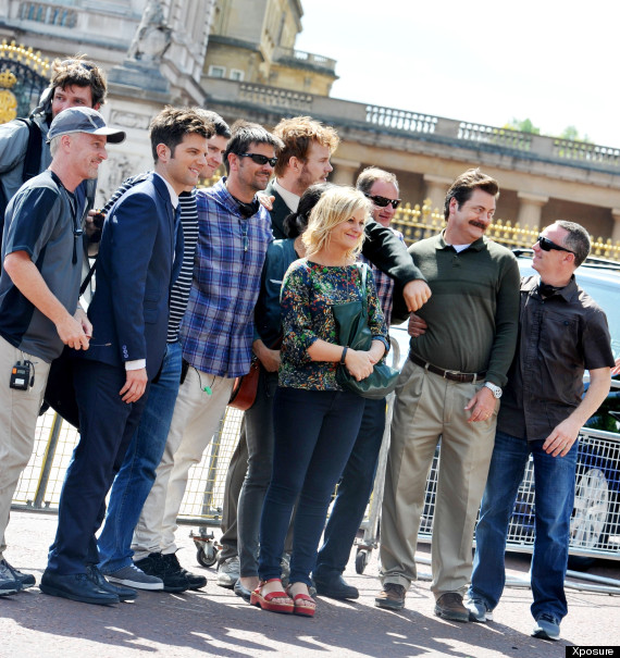 They're Filming 'Parks And Recreation' In London! Hoorah