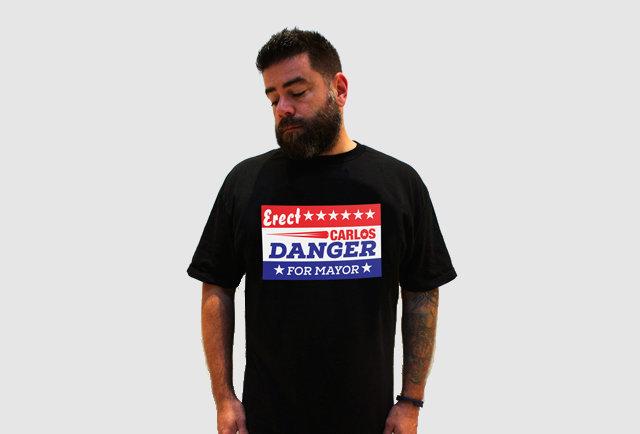 carlos danger tshirt