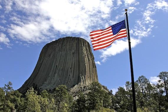 hilltop american flag