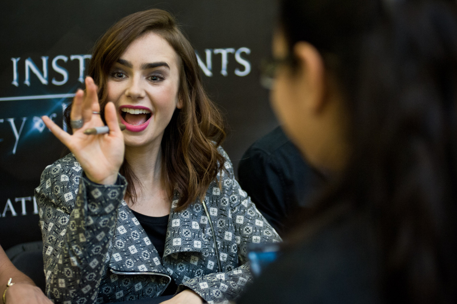 Lily Collins Shows Ski...