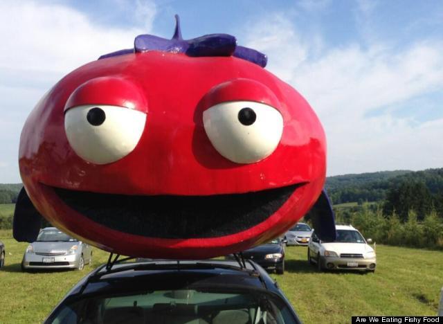 fish tomato car
