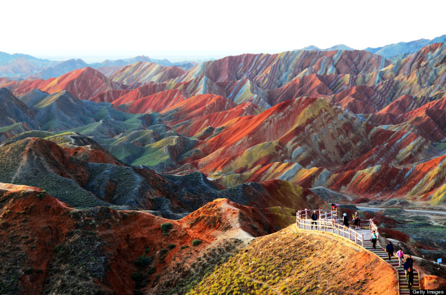 Rainbow Mountains In ChinaS Danxia Landform Geological Park Are