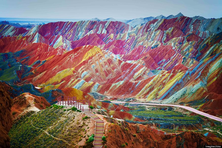 Montañas Rainbow Parque Geológico de China Fotos muy muy r