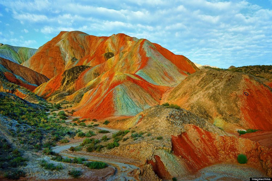 Rainbow Mountains In China\'s Danxia Landform Geological Park Are ...
