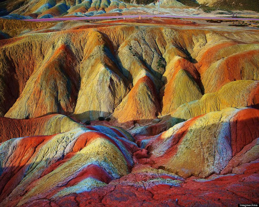 Rainbow Mountains In China'S Danxia Landform Geological Park Are