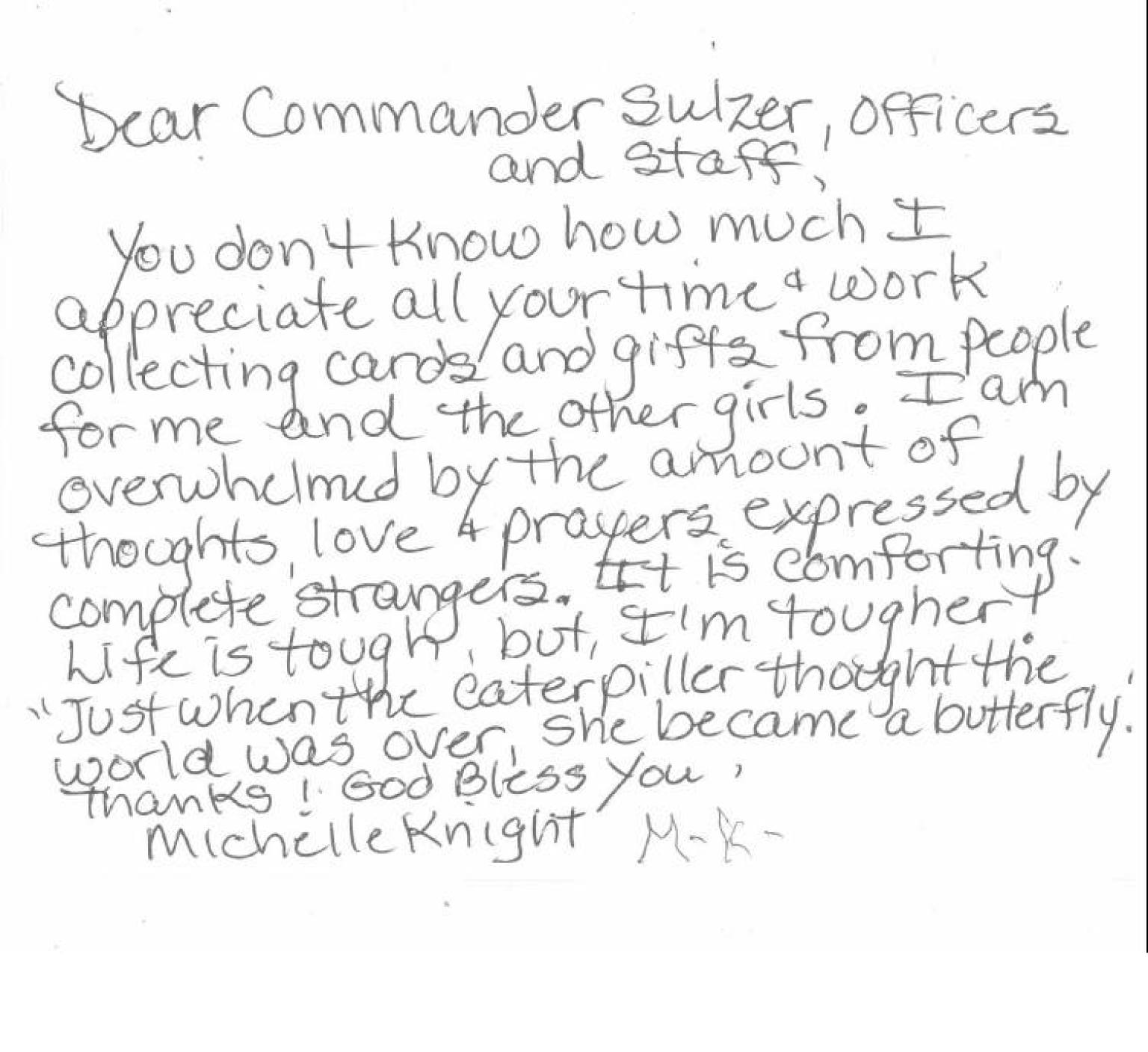 michelle knight s heartfelt note to cleveland police and other michelle knight s heartfelt note to cleveland police and other thank you notes to cops photos the huffington post