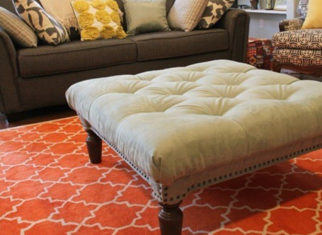 This Diy Tufted Ottoman Only Looks Like It Came From
