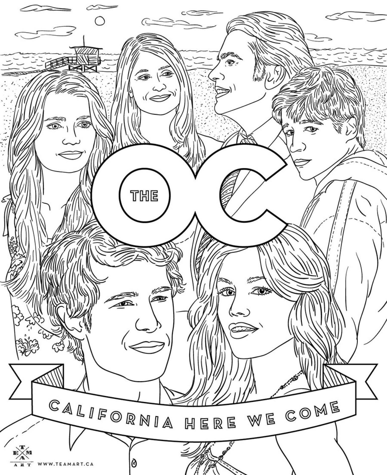 39 the oc 39 coloring page celebrate the 10 year anniversary huffpost. Black Bedroom Furniture Sets. Home Design Ideas