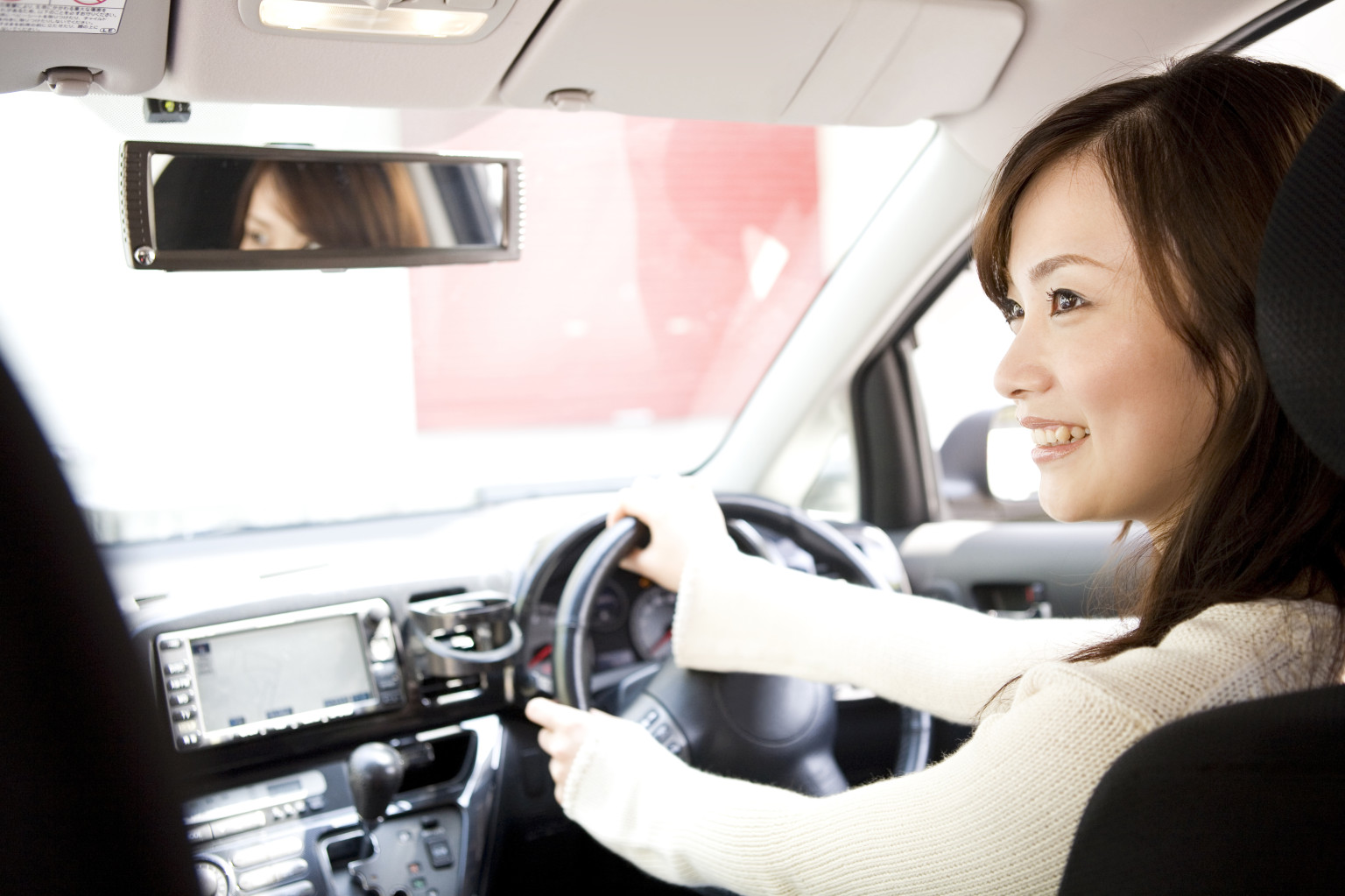 And have asian lady driving