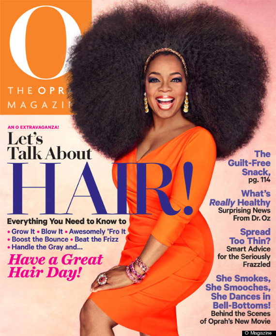 Oprah's Afro Wig On O Magazine's September 2013 Cover Is Totally