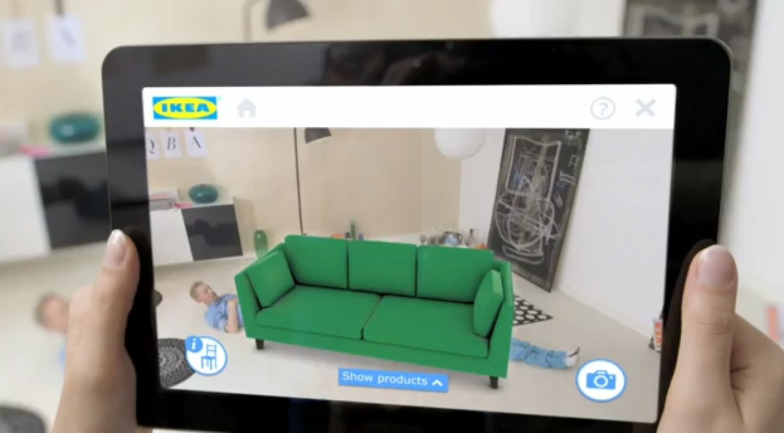 ikea 39 s new app lets you place virtual furniture in your home before you buy it video huffpost uk. Black Bedroom Furniture Sets. Home Design Ideas