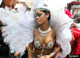 WATCH: Rihanna Looks Hip In Bejewelled Bikini