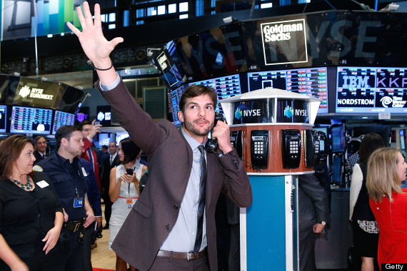 ashton kutcher new york stock exchange