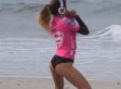 Anastasia Ashley Does 'Twerking' Warm-Up Dance At Surfing Competition (VIDEO)