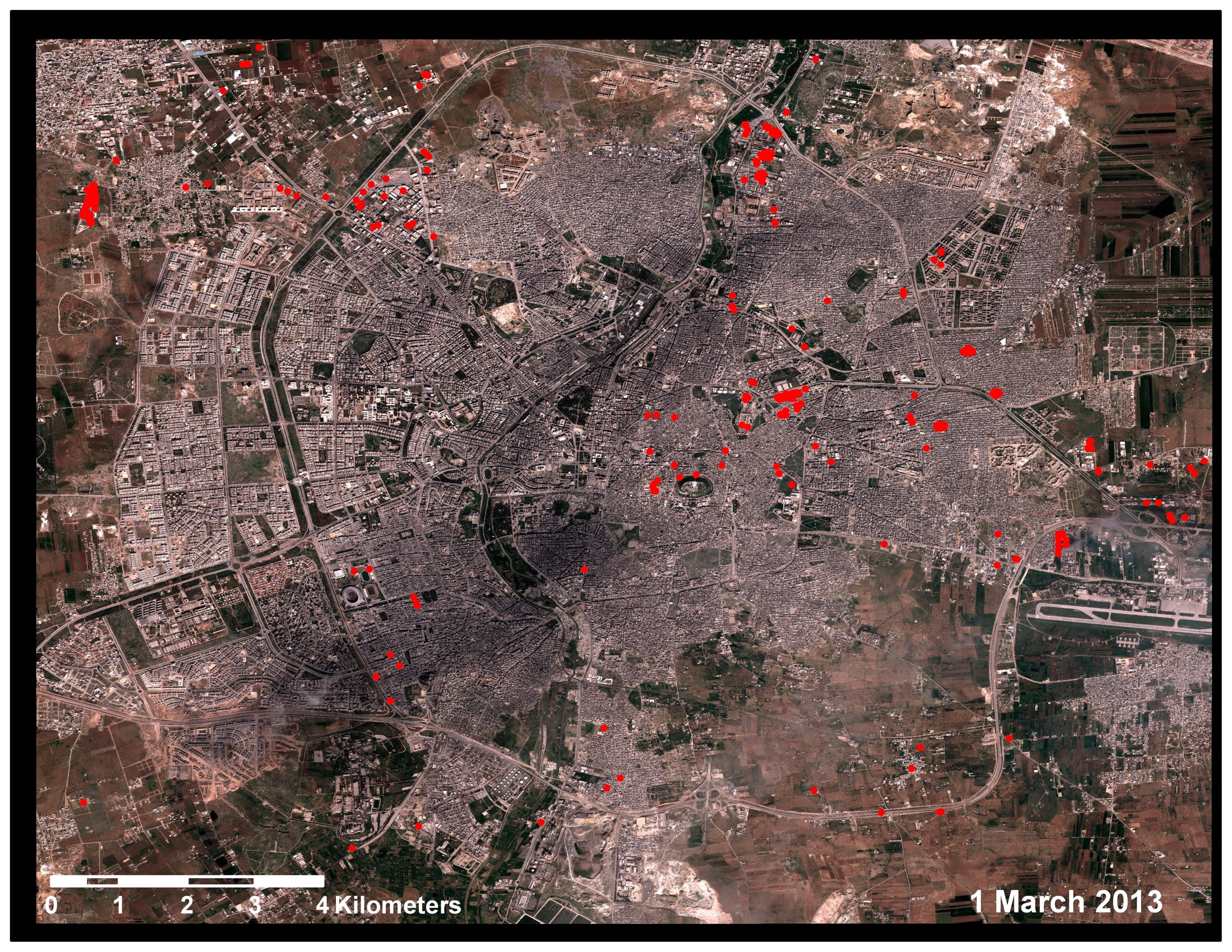 Syria Map And Satellite Image: Aleppo Satellite Images Reveal Destruction Wrought By