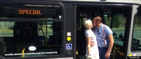 Vancouver Bus Wedding: Nina Schmidt, Jarred Greff Take Guests On A Surprise Ride