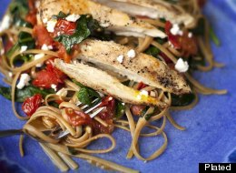 Roast Chicken and Mediterranean Linguini Recipe
