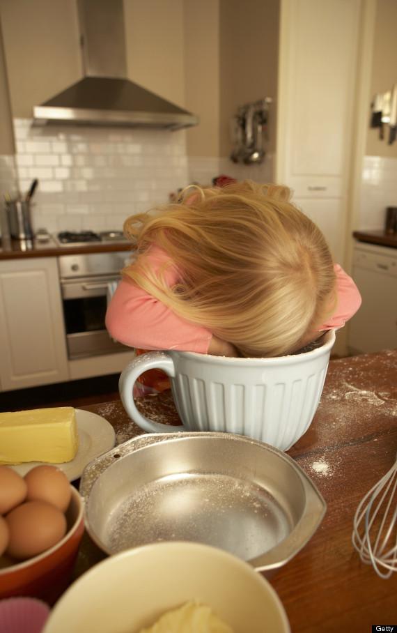 hiding in kitchen