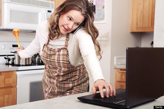 multitasking cook
