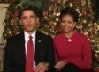 Obamas Send Christmas Greetings To Troops In Joint Weekly Address (VIDEO)